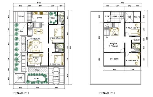 rumah minimalis 1 lantai dan denah rumah minimalisme blog