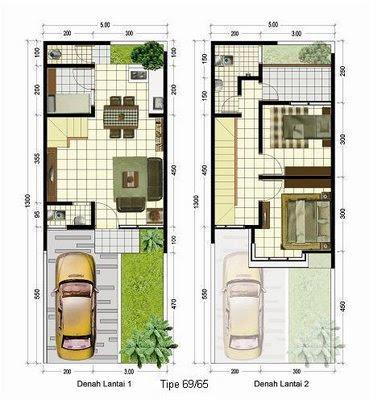 Desain Rumah Minimalis Modern 2 Kamar Tidur