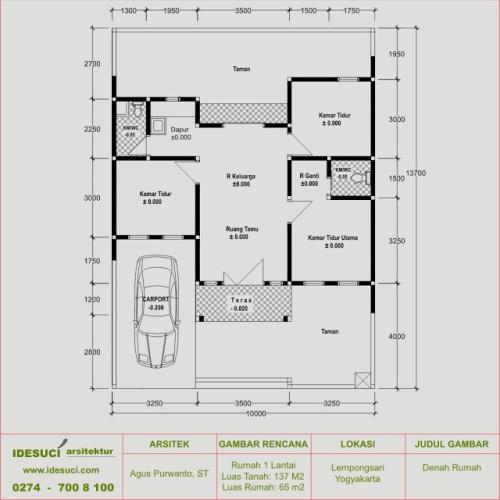 61 Desain Rumah Minimalis Luas Tanah 100m2 Desain Rumah